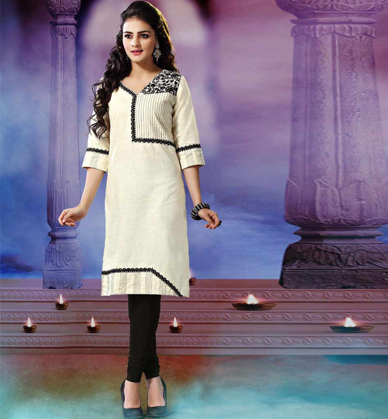 ETHNIC STYLE KHADI KURTI DESIGNS 2015 COLLECTION FOR MODERN WOMEN