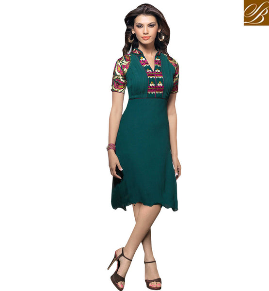 FROM STYLISH BAZAAR WONDERFUL PARTY WEAR KURTI DESIGN VDSCH2018