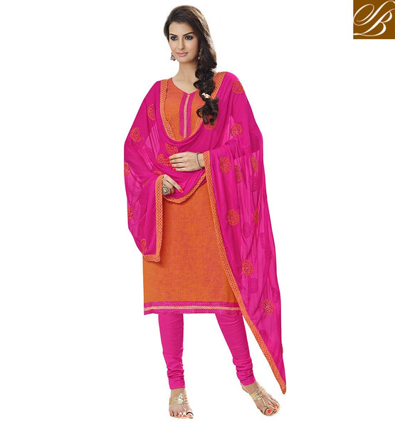PUNJABI DRESS NECK DESIGN IN LONG KAMEEZ WITH CHURIDAR PATTERN SALWAR