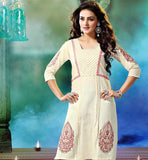 KHADI KURTI WITH NEUTRAL COLOR TO MATCH WITH ANY BOTTOM