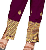 Embroidered trouser salwars for women