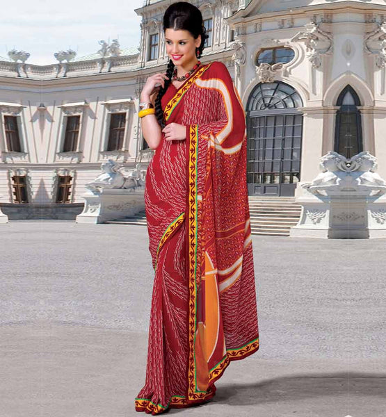 MAROON CASUAL WEAR SAREE RTKOR204B