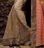 REMARKABLE EMBROIDERY WORK WITH NEW STYLISH PARI WORK, STONE WORK AND EMBROIDERY  LACE BORDER LATEST WEDDING SAREES   STYLISH DRAPING STYLES FOR WEDDING PARTY
