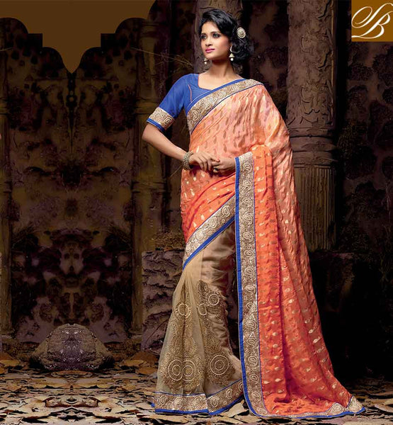 INDIAN WEDDING SARI WEAR WITH BEAUTIFUL BLOUSE DESIGNS ONLINE RTVRT2055A