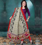 SIMPLE CASUAL WEAR SALWAR KAMEEZ DRESS PATTERNS  COOL DESIGNER DRESS WITH STUNNING PRINTED BHAGALPURI FABRIC DUPATTA