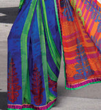 BEAUTIFUL PRINTED CASUAL WEAR SAREE RTKOR206A