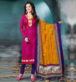 CASUAL WEAR SIMPLE AND BEAUTIFUL SALWAR KAMEEZ  DESIGNER PINK BHAGALPURI SUIT WITH PURPLE COTTON