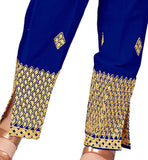 Taperred trouser with embroidery for women