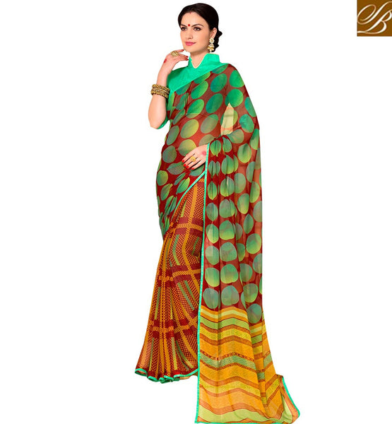 STYLISH BAZAAR BEAUTIFUL DESIGNER PRINTED SAREE RTSHN2080
