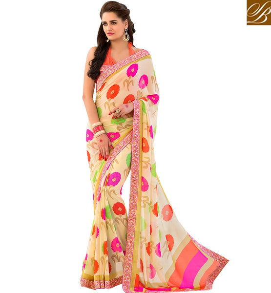 BROUGHT TO YOU BY STYLISH BAZAAR ELEGANT FLOWERY PATTERN DESIGNER SAREE RTSHN2089A