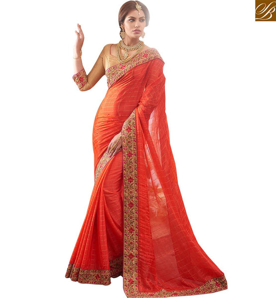 STYLISH BAZAAR INTRODUCES GRACEFUL HEAVILY DESIGNED DESIGNER SAREE RTBTQ208A