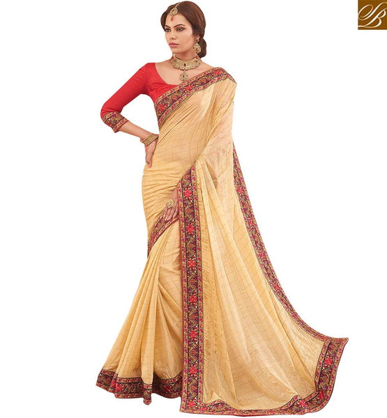 STYLISH BAZAAR INTRODUCES GRAND SARI BLOUSE DESIGN FOR SPECIAL OCCASIONS RTBTQ208B