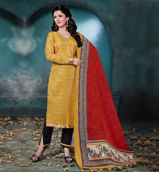 LATEST SALWAR KAMEEZ BOUTIQUE DESIGNS FOR WOMEN BEAUTIFUL BEIGE TOP WITH CONTRAST BLACK SALWAR AND