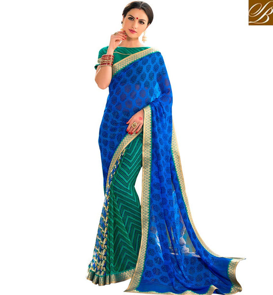 FROM STYLISH BAZAAR GORGEOUS DESIGNER PRINTED SAREE RTSHN2094