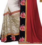STYLISH BAZAAR INTRODUCES WONDERFUL WEDDING WEAR MAROON GEORGETTE SAREE WITH BLOUSE RTSAK2097