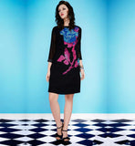 3/4TH SLEEVE PARTY WEAR DESIGNER GEORGETTE KURTI TO WEAR WITH JEANS
