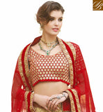 CREAM NET LEHENGA WITH MAROON VELVET CHOLI AND MAROON NET DUPATTA MARK YOUR PRESENCE BY WEARING THIS WEDDING LEHENGA CHOLI DECORATED WITH LACE BORDER DESIGN