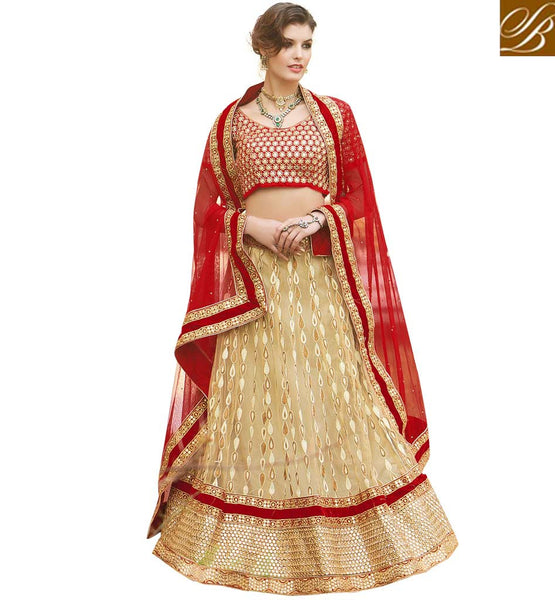 STYLISH CHOLI LEHENGA FASHION CLOTHES SHOPPING  CREAM NET LEHENGA WITH MAROON VELVET CHOLI AND MAROON NET DUPATTA