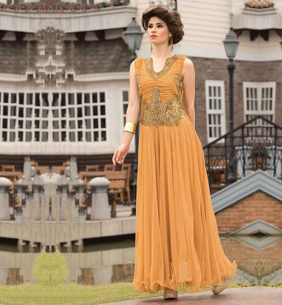 GOOD-LOOKING RICH NEW PATTERN EVENING GOWN ONLINE SHOPPING INDIA