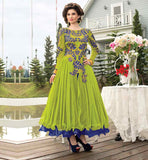 ALLURING PLEATED FROCK STYLE EMBROIDERED GOWN SHOPPING IN INDIA