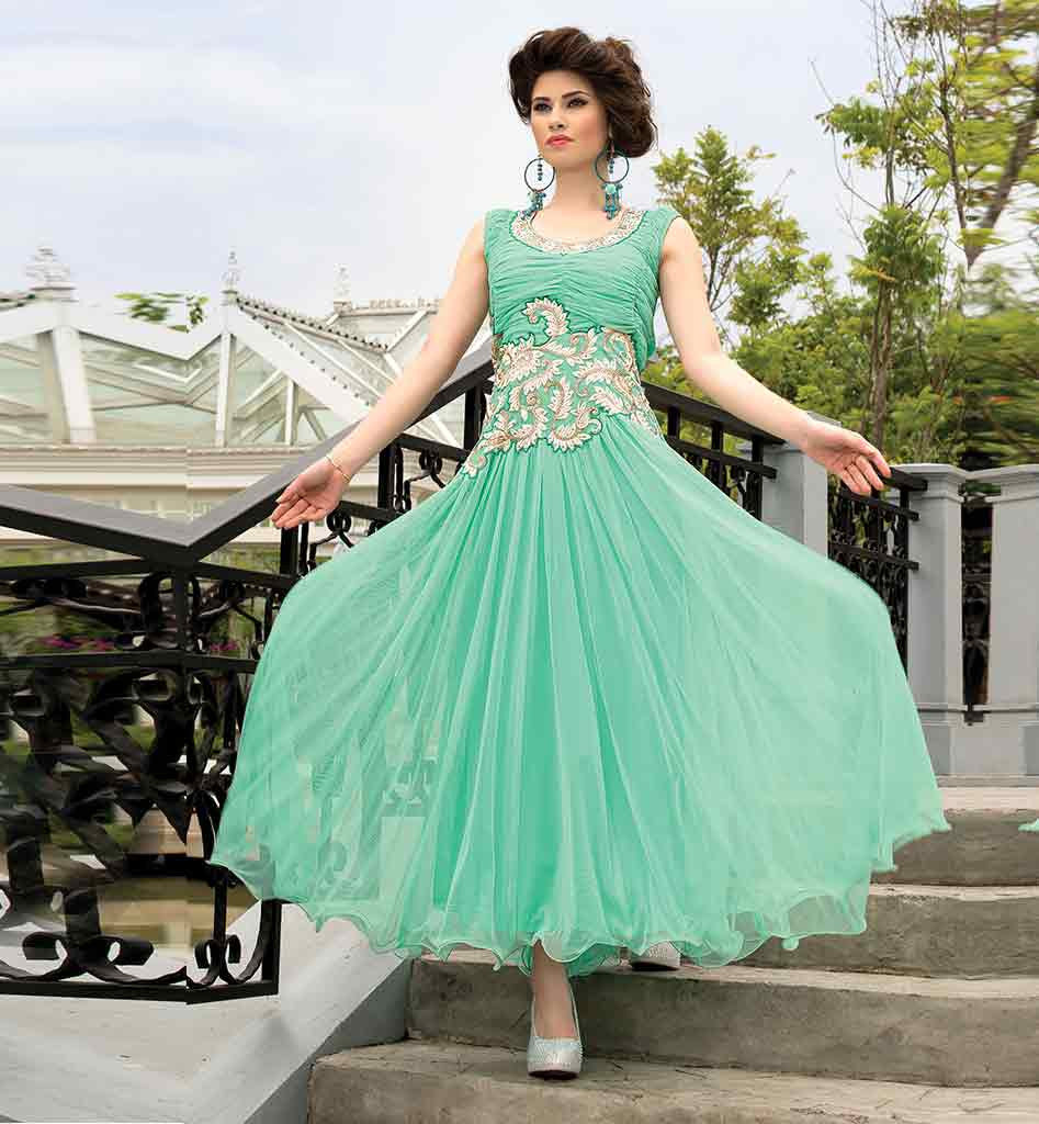 Green maxi dress online india