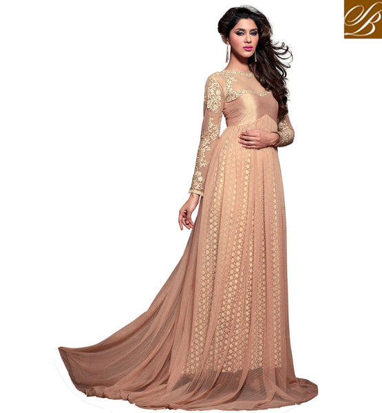 MAISHA 2100 SERIES FLOOR LENGTH ANARKALI FOR EID DUSTY PINK FULL LENGTH ANARKALI DRESS WITH DUPATTA