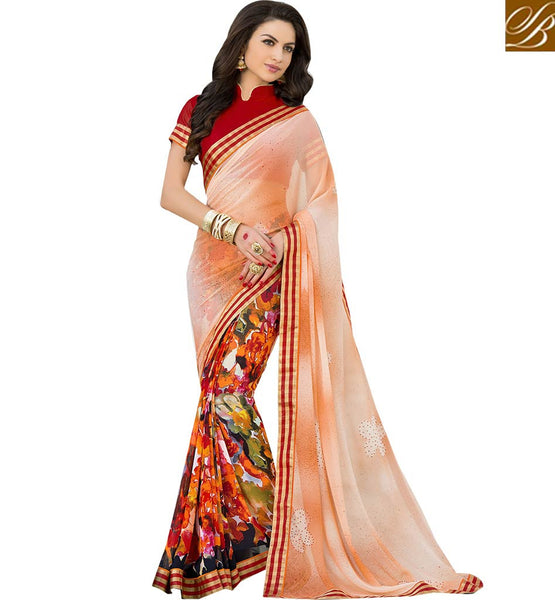 STYLISH BAZAAR PRESENTS RAVISHING PRINTED DESIGNER SAREE BLOUSE RTSHN2102