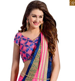 ALLURING PARTY BLOUSE SAREE BLOUSE DESIGN VAR2103 PINK & BLUE