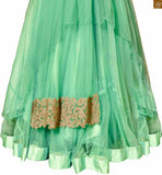 FROM THE HOUSE OF STYLISH BAZAAR: MAGNIFICENT LIGHT GREEN SALWAAR KAMEEZ FOR PARTY WEAR ANIM2103a