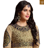 CREAM NET ANARKALI DRESS FOR PARTIES AND WEDDINGS PAKISTAN INDIA