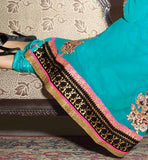 BEAUTIFUL BLUE PARTY WEAR GEORGETTE SALWAR KAMEEZ WITH DUPATTA STYLISHBAZAAR