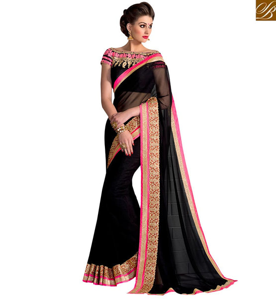 MARVELOUS BLACK SAREE BLOUSE DESIGN STYLE FOR SPECIAL EVENTS VAR2107 By BLACK