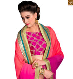 MESMERIC PARTY WEAR SARI DESIGN FOR PARTIES VAR2108 PINK & PURPLE
