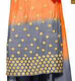 FROM THE HOUSE OF STYLISH BAZAAR: IMPRESSIVE SHADED ORANGE AND GREY DESIGNER SALWAR SUIT FOR PARTY WEAR ANIM2108