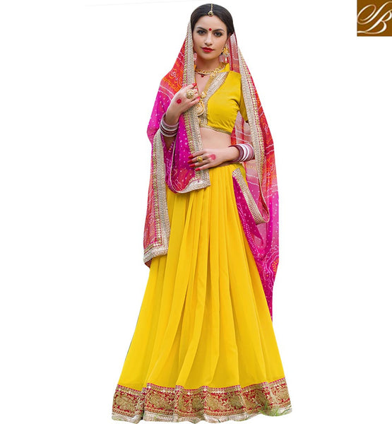 BROUGHT TO YOU BY STYLISH BAZAAR EXOTIC YELLOW DESIGNER PRINTED SARI RTSHN2110