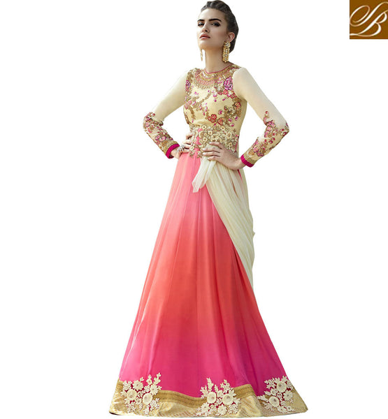 STYLISH BAZAAR FASCINATING INDIAN FLOWING GOWN STYLE DRESS COLLECTION ONLINE ANIM2113
