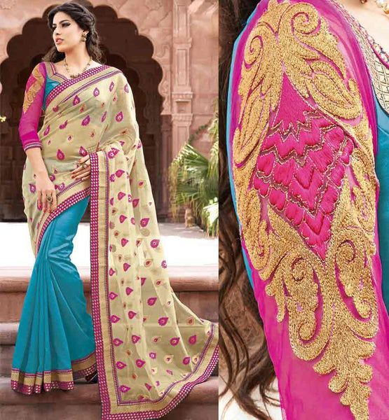 DESIGNER INDIAN PARTY WEAR SAREES ONLINE SHOPPING