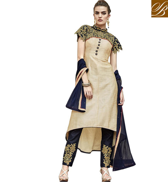 STYLISH BAZAAR LOVELY HIGH LOW CUT PUNJABI PARTY WEAR DRESS SUIT DESIGN ANIM2114