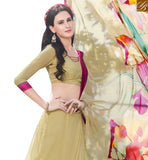 BROUGHT TO YOU BY STYLISH BAZAAR GOOD LOOKING CREAM COLORED PRINTED SAREE RTRNK2115B