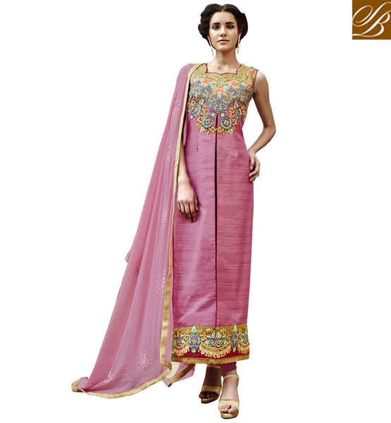 STYLISH BAZAAR MARVELOUS INDIAN CHURIDAR DRESS SUIT ONLINE DESIGN ANIM2115