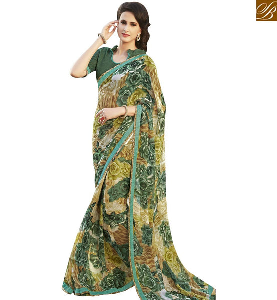 STYLISH BAZAAR STYLISH MULTI COLORED PRINTED DESIGNER SAREE RTRNK2118