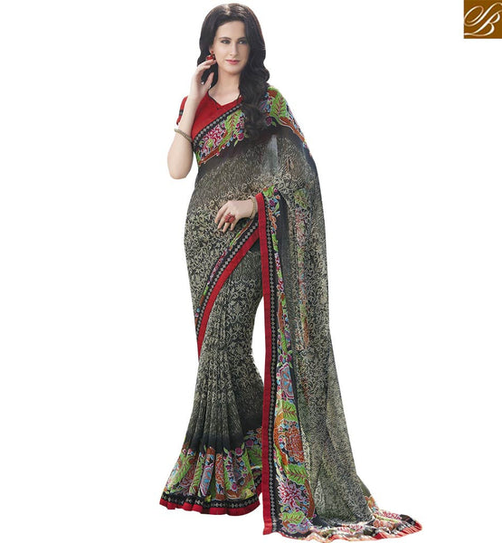 STYLISH BAZAAR CATCHY GEORGETTE PRINTED MULTICOLOR SAREE RTRNK2120