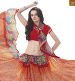 BROUGHT TO YOU BY STYLISH BAZAAR ASTONISHING PEACH & MAROON COLORED PRINT WORK SAREE RTRNK2121