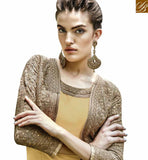A STYLISH BAZAAR PRESENTATION ROYAL LOOKING MUSTARD AND BROWN COLORED JACKET STYLE DESIGNER SALWAR SUIT ANEK2129