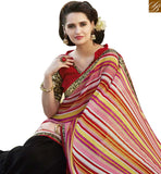 FROM THE HOUSE OF STYLISH BAZAAR GLITTERING MULTI COLORED HALF & HALF SAREE RTRNK2133