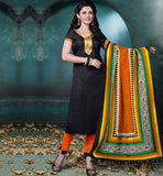 EVER STYLISH ETHNIC SALWAR KAMEEZ DESIGNS 2015 STYLISH BAZAAR BHAGALPURI SUIT WITH LACE WORK ON NECKLINE