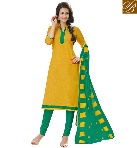 STYLISH PUNJABI SUIT DESIGN OF CHURIDAR STYLE SALWAR KAMEEZ PATTERN DRESS