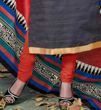 STRAIGHT CUT DRESS WITH EXCITING PRINTED DUPATTA. DRESS SUITABLE FOR OFFICE GOING WOMEN STYLISH BAZAAR ETHNIC INDIAN