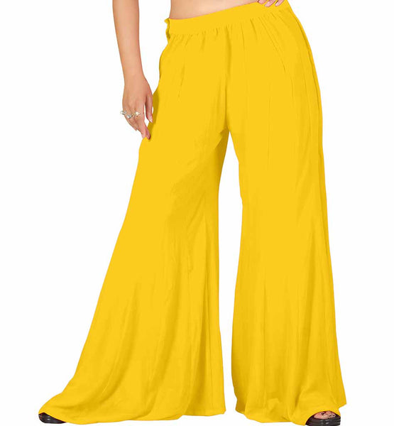 LADIES COTTON BELL BOTTOM PANTS WITH STRETCHABLE ELASTIC WAISTBAND