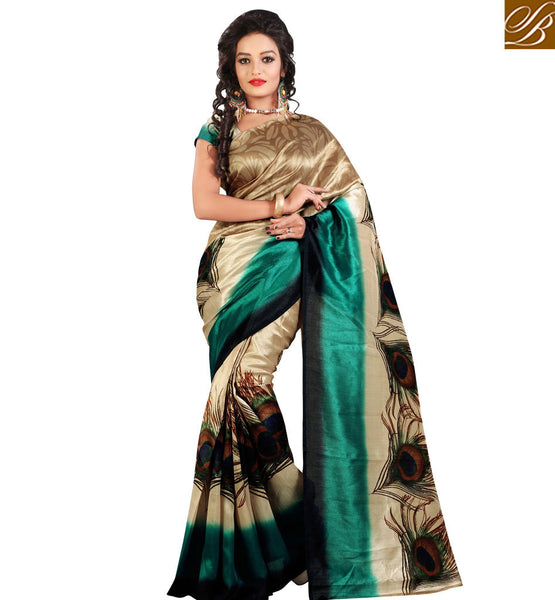 FROM THE HOUSE  OF STYLISH BAZAAR SMART PRINTED SARI FOR HIGH PROFILE PARTIES RTVAN21